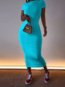 Solid Color Pencil Dress