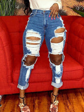 Load image into Gallery viewer, Ripped Straight Jeans