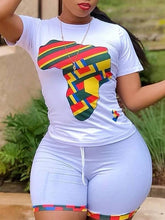 Load image into Gallery viewer, Africa Map Tee & Shorts Set
