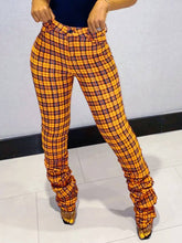 Load image into Gallery viewer, Plaid Ruched Pants