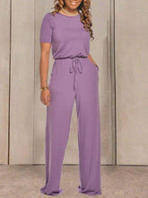 Load image into Gallery viewer, Everyday Short Sleeve Jumpsuit