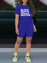 Load image into Gallery viewer, Black Lives Matter Tee & Shorts Set