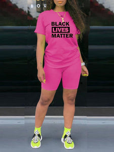 Black Lives Matter Tee & Shorts Set