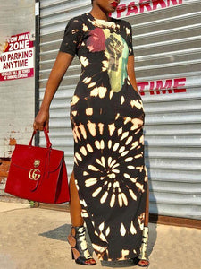 Africa Pride Slit Dress