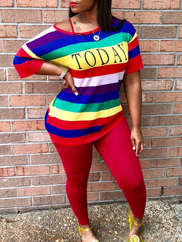 Rainbow Tee & Leggings Set