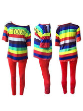Load image into Gallery viewer, Rainbow Tee & Leggings Set