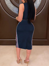 Load image into Gallery viewer, Side-Stripe Tank Top & Pencil Skirt Set