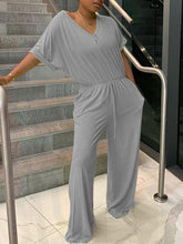 Load image into Gallery viewer, Solid V-Neck Jumpsuit