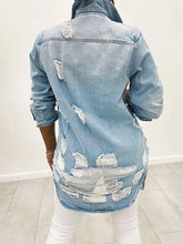 Load image into Gallery viewer, Distressed Denim Jacket