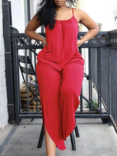 Load image into Gallery viewer, Solid Cami Slit Leg Jumpsuit
