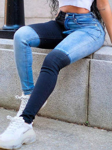 Two-Tone Combo Jeans