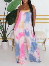 Load image into Gallery viewer, Multicolor Bandeau Wide-Leg Jumpsuit