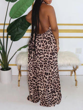 Load image into Gallery viewer, Leopard Halter Wide-Leg Jumpsuit