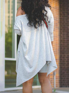 Asymmetric Top & Biker Shorts Set