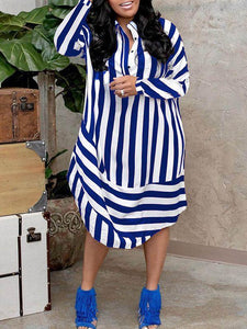 Double Stripe Shirt Dress