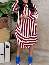 Load image into Gallery viewer, Double Stripe Shirt Dress