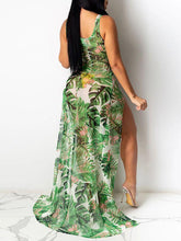 Load image into Gallery viewer, Floral Slit Sheer Cover-up
