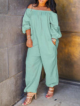 Load image into Gallery viewer, Off Shoulder Heram Jumpsuit
