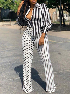 Stripe & Polka Contrast Set