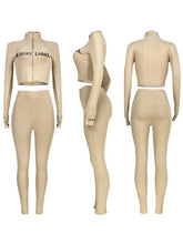 Load image into Gallery viewer, Ribbed Crop Jacket & Pants Set