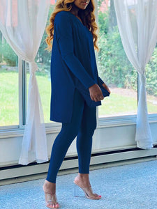 V-neck Tunic & Pants Set