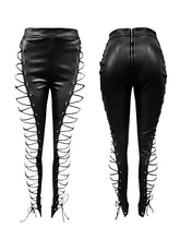 Load image into Gallery viewer, Faux Leather Lacing Pants