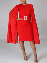 Load image into Gallery viewer, Cape Bodycon Dress