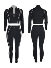 Load image into Gallery viewer, Quarter-Zip Top & Drawstring Pants Set