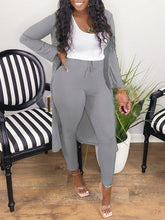 Load image into Gallery viewer, Solid Ribbed Cardigan & Pants Set