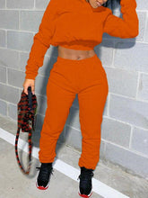 Load image into Gallery viewer, Solid Hoodie & Lace-Up Pants Set