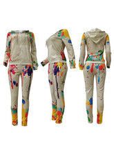 Load image into Gallery viewer, Graffiti Zip-Front Hoodie & Pants Set