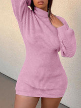 Load image into Gallery viewer, Turtleneck Knit Dress