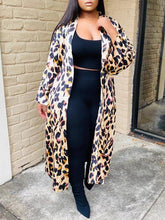 Load image into Gallery viewer, Leopard Open-Front Cardigan