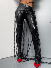 Load image into Gallery viewer, Faux-Leather Lace-Up Pants