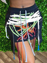 Load image into Gallery viewer, Lace-Up Mini Skirt