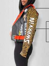 Load image into Gallery viewer, Tiger Faux-Leather Jacket