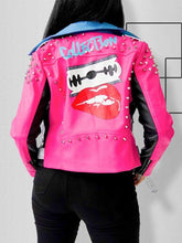 Load image into Gallery viewer, Colorblock-Combo Faux-Leather Jacket
