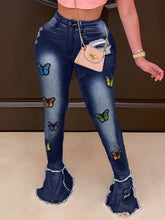 Load image into Gallery viewer, Butterfly Flared Jeans