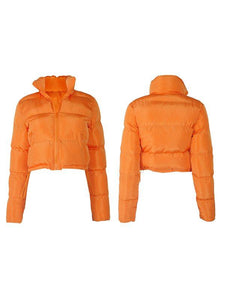Solid Puffer Coat
