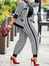 Load image into Gallery viewer, Houndstooth Jacket & Pants Set