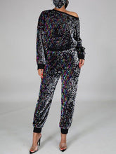 Load image into Gallery viewer, Sequin Sweatshirt & Jogger Pants Set