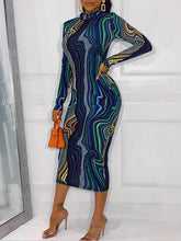 Load image into Gallery viewer, Printed Bodycon Dress