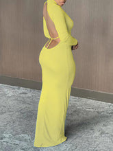 Load image into Gallery viewer, Backless Maxi Dress
