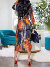 Load image into Gallery viewer, Bodycon Print Dress