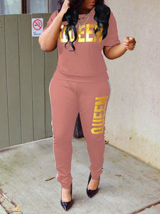 QUEEN Tee & Pants Set