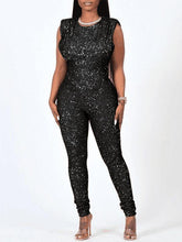 Load image into Gallery viewer, Sequin Sleeveless Jumpsuit