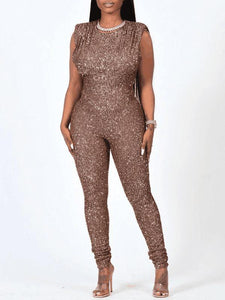 Sequin Sleeveless Jumpsuit