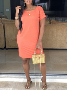 Solid Color Tee Dress