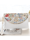 Multicolor Studded Clutch