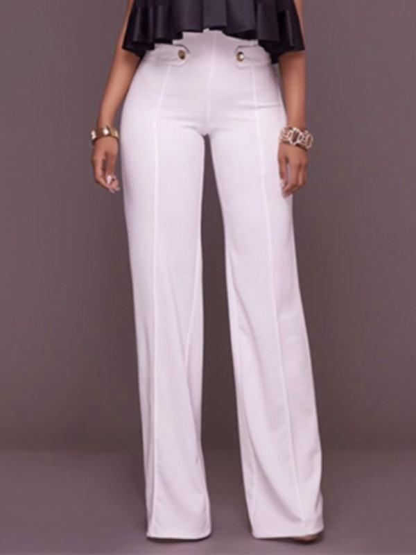 Bottoms - High Waist Wide Leg Pants